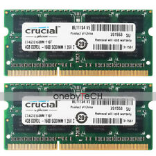 8GB KIT 2X4GB 2RX8 PC3L-12800S DDR3-1600MHZ 204-PIN SODIMM LAPTOP ASUS K72Jr RAM