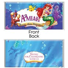 The Little Mermaid Theme Chocolate Wrappers Printable Digital - Print At Home