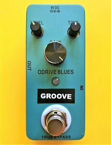 GROOVE Overdrive Blues OB1 guitar effects pedal - true by-pass