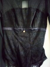 Marks and Spencer Autograph French Designer Lace With Silk Bodysuit Size 8