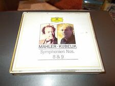 MAHLER-KUBELIK 2 DISC CD BOX SET SYMPHONIEN NOS. 8 & 9