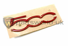 Fiat & Abarth 500 GT Gloss Rosso Dashboard BADGE Brand New ORIGINALE 735577554