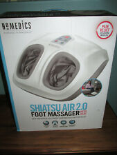 HoMEDICS SHIATSU AIR 2.0 Foot Massager With Heat & Compression Deep Kneading