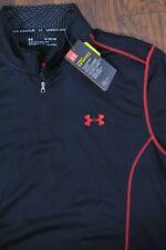 NWT Under Armour Infrared 1/4 Zip Pullover Black Men's XL