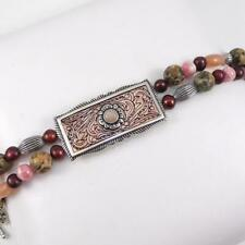 "Carolyn Pollack Relios Copper Sterling Silver Multi Stone Bracelet 8"" LFE3"