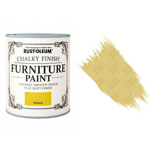Sale Rust-Oleum Chalk Chalky Furniture Paint Chic Shabby 750ml Mustard Matt