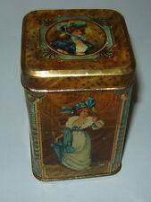 Unique ANTIQUE Old Vintage Tin Litho Box for tea or coffee Victorian Ladies Boys