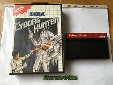 Cyborg hunter game Sega master system boxed