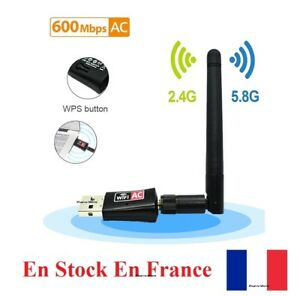 USB WiFi Adapter 600Mbps Wireless Dongle Dual Band 2.4GHz/5GHz antenna AC831