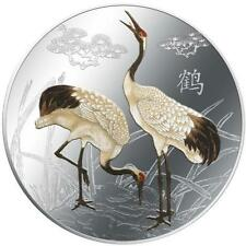 2013 Feng Shui - Cranes 1 oz Coloured Silver proof Coin
