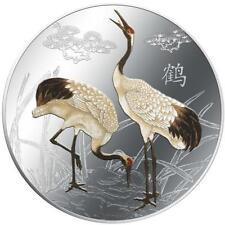 2013 Feng Shui - Cranes 1 oz Coloured Silver proof Coin