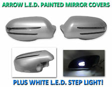 USA 05-08 R171 SLK Arrow LED Side Painted Silver Mirror Cover + LED Step Light