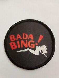 Bada Bing Sopranos Mafia sublimation style iron or sew on 3 inch patch badge