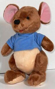 "Disney Store Exclusive Winnie the Pooh Roo Kangaroo 10"" Plush Blue Shirt"