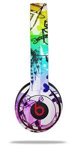 Skin Beats Solo 2 3 Scene Kid Sketches Rainbow Wireless Headphones NOT INCLUDED