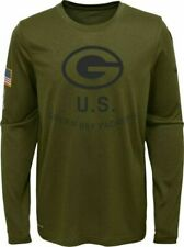 Green Bay Packers Salute to Service STS Nike Dri-fit L/s Shirt 2018 Size Large