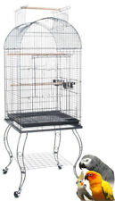 """65"""" Large Parrot Dome Cage Cockatiel Amazon African Grey Caique Conure W/Stand"""