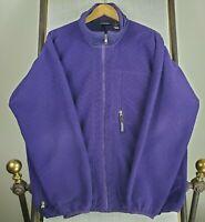 PATAGONIA MADE IN USA XL Mens Full Zip Purple Fleece Jacket Coat Aztec Pattern