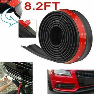 2.5M Car Front Bumper Lip Splitter Body Side Spoiler Protector Rubber Universal