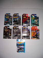 Hot Wheels 75 Years Of Batman Complete Set Of 8 Batman Vehicles Plus Bat Pod NEW