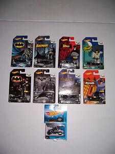 Hot Wheels 75 Years Of Batman Complete Set Of 8 Batman Vehicles Plus Bat Pod NEW