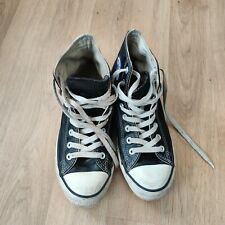 Converse All Star Chuck Taylor leather High Top Sneaker UK 7 - Black