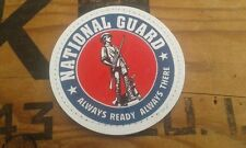 "SNAKE PATCH - PVC 2D "" NATIONAL GUARD "" scratch US WW2 vintage look USA"