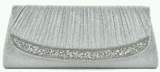 New Sparkling Rhinestone Party Bridal Evening Clutch Bag Silver