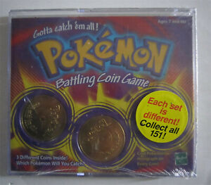 POKEMON BATTLE GAME COINS HASBRO SEALED