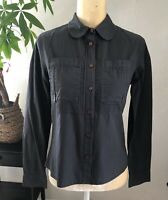 See by Chloe Long Sleeves Button Up Military Shirt Zip and Button Cuffs Size 2
