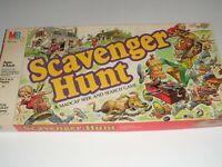 Vintage 1983 Scavenger Hunt Board Game Milton Bradley 100% Complete
