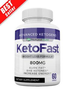 Keto Fast Weight Loss Pills, Best Ketogenic Diet Supplement, 800 MG BHB