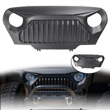 Front Grill Angry Bird Grille for Jeep Wrangler TJ 1997-2006 Matte Black