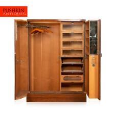 More details for antique 20thc english art deco compactom wardrobe c.1930