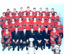 1965 CHAMPIONS MONTREAL CANADIENS 8X10 TEAM PHOTO HOCKEY NHL STANLEY CANADA