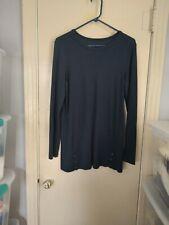 J Jill Perfect Pima Tunic Women's Size Small Pullover Navy Blue EUC