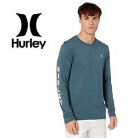 Hurley Men's Happy Hour Premium Long Sleeve Tee Shirt Heather Blue size M XL 2XL
