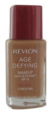 Revlon Age Defying Foundation with BOTAFIRM - 17 Rich Tan - Dry Skin SPF 15
