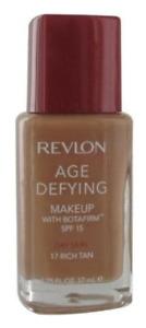 Revlon Age Defying Foundation with BOTAFIRM - 17 Rich Tan - Dry Skin SPF 15
