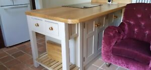 SOLID WOOD bespoke made to measure kitchen units kitchen island,Colour Sample.