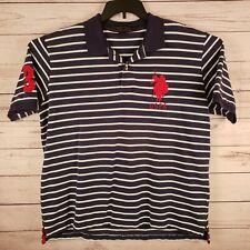 US POLO ASSN Mens XL Embroidered Navy Blue Polo Shirt Big Pony Logo #3