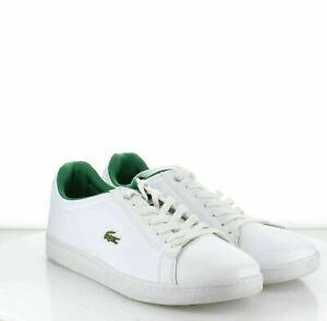 W59 Men's SZ 12 Lacoste Hydez leather sneaker White
