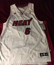 New Lebron James Miami Heat Mens Size 2X Adidas White Swingman Rare Jersey NWT