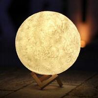 3D USB LED Magical Moon Night Light Moonlight Table Desk Lunar Lamp Home Decor