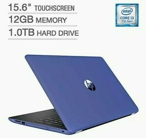 "HP 15-bs038cl 15.6"" Touchscreen Laptop - Intel Core i3-7100U - 12GB RAM, 1TB HD"