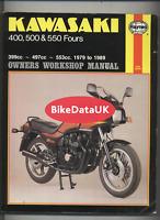 Kawasaki 400 500 550 Fours (1979-1989) Haynes Repair Manual GPZ GT Z KZ ZR DJ80
