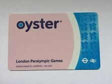 Very Rare Official London 2012 Paralympic Games Blue Paralympic Oyster Card