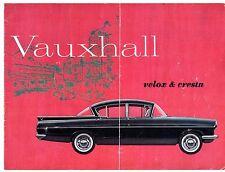Vauxhall VELOX & cresta PA 2.6 maletero 1961-62 8pp mercado del Reino Unido Folleto de ventas