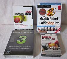 Software Programme Konvolut Sammlung 4 Stück Musik CD DVD Video Bearbeitung