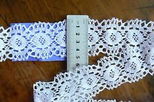 Cluny Cotton Lace WHITE - 45-50mm wide 3 Metre Lengths - Sunrise